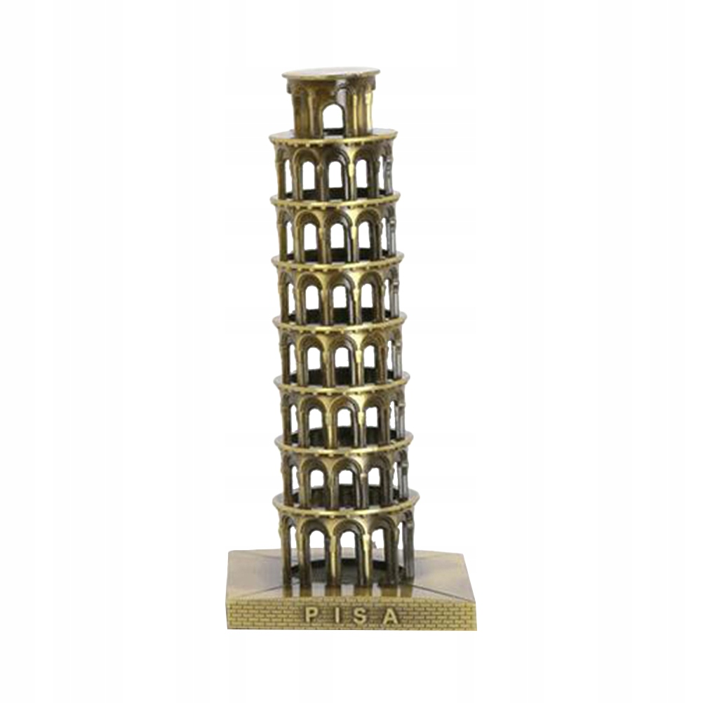 Retro šikmá veža v Pise, dekorácia kreatívneho nábytku
