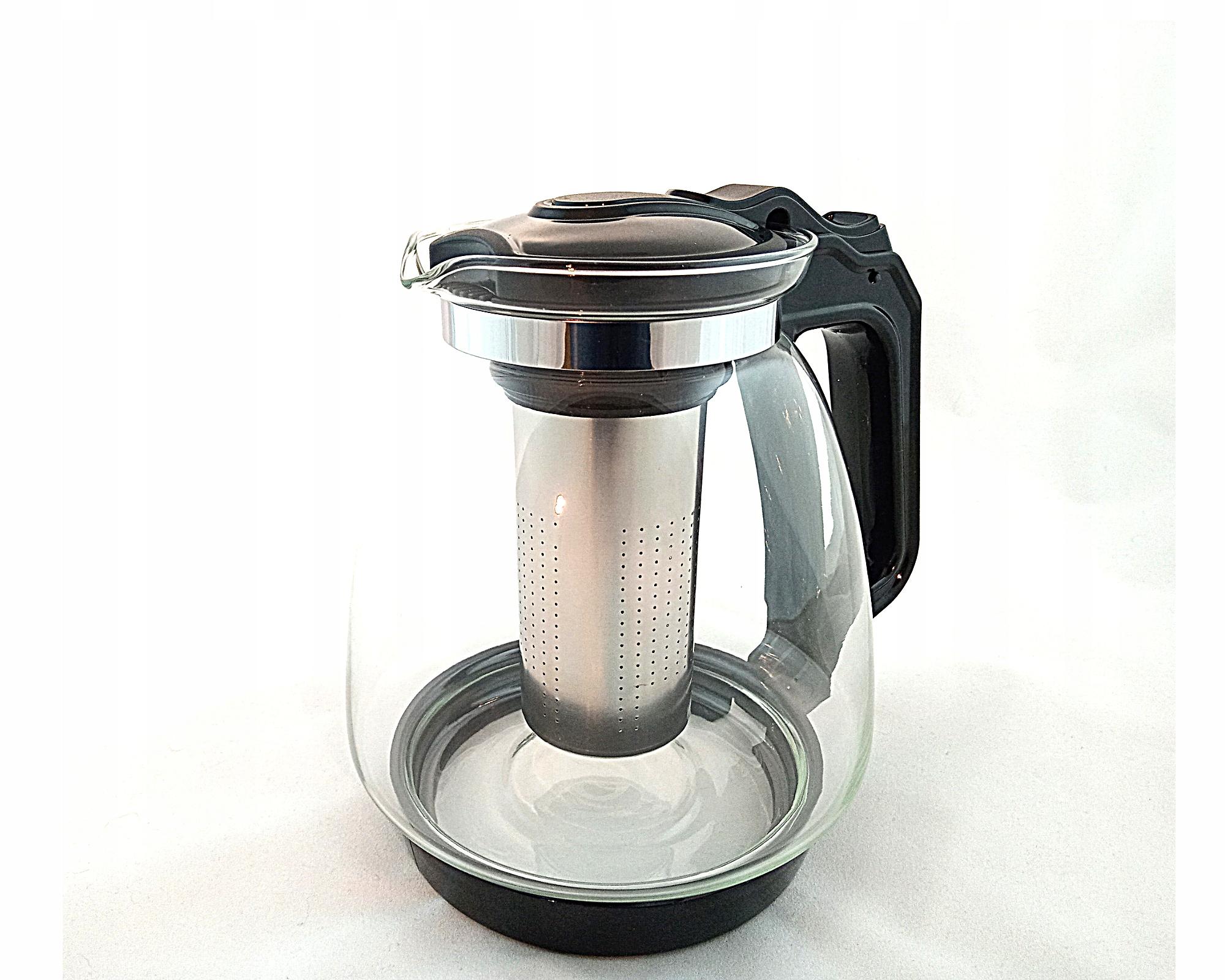 DZBANEK ZAPARZACZ DO HERBATY KAWY SZKLANY 2,2 l Przeznaczenie Do herbaty Do kawy