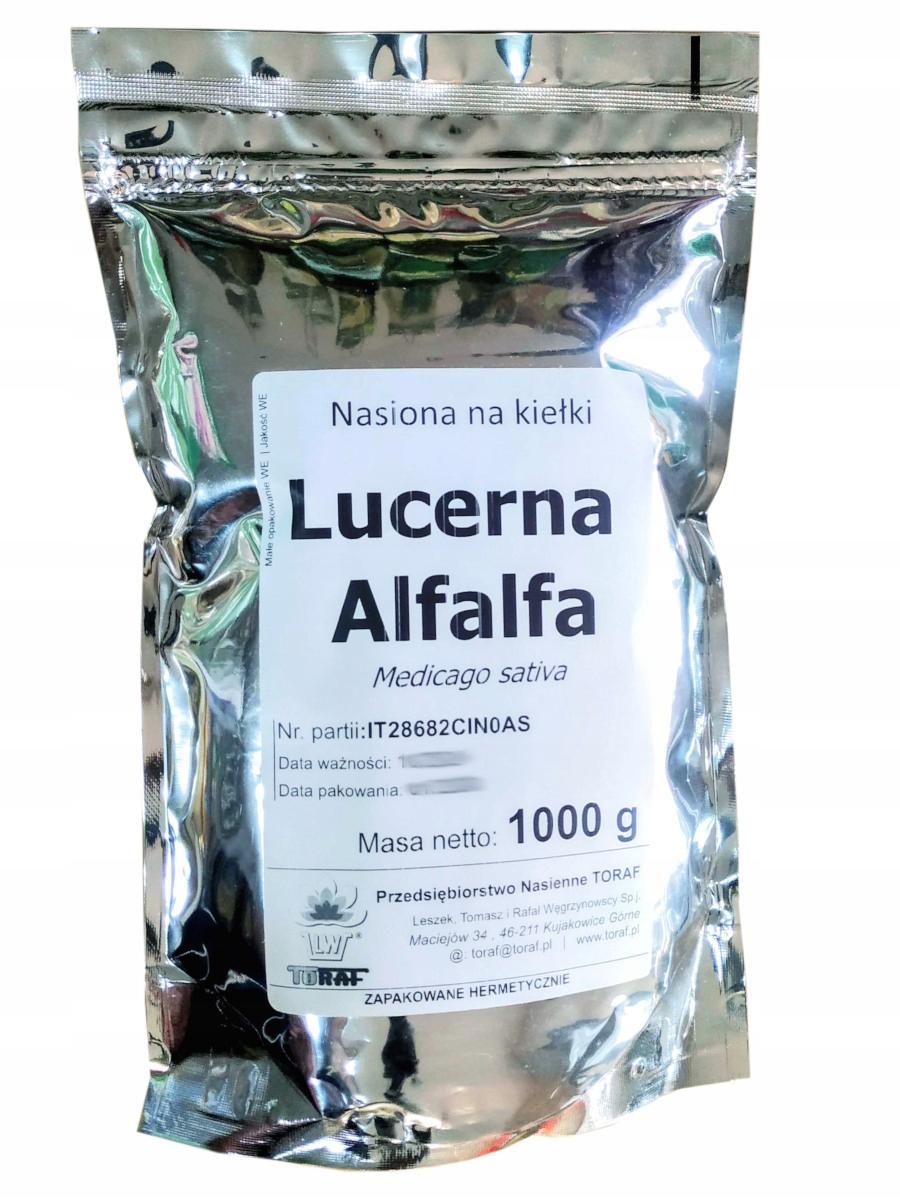 Semená výhonky lucerny Toraf 1000 g 1 kg