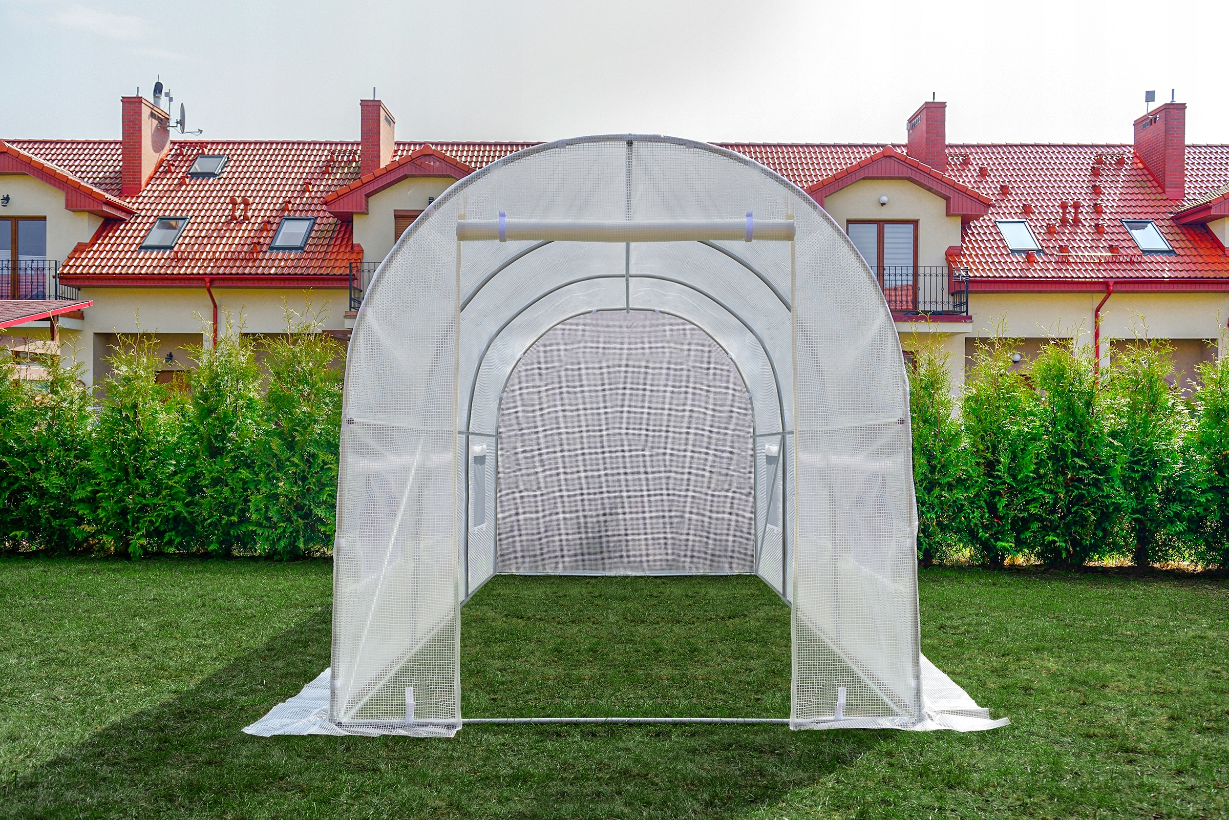 FÓLOVÝ TUNEL 6m2 ZÁHRADNÝ SKLENÍK 3x2m UV-4 Šírka 200 cm