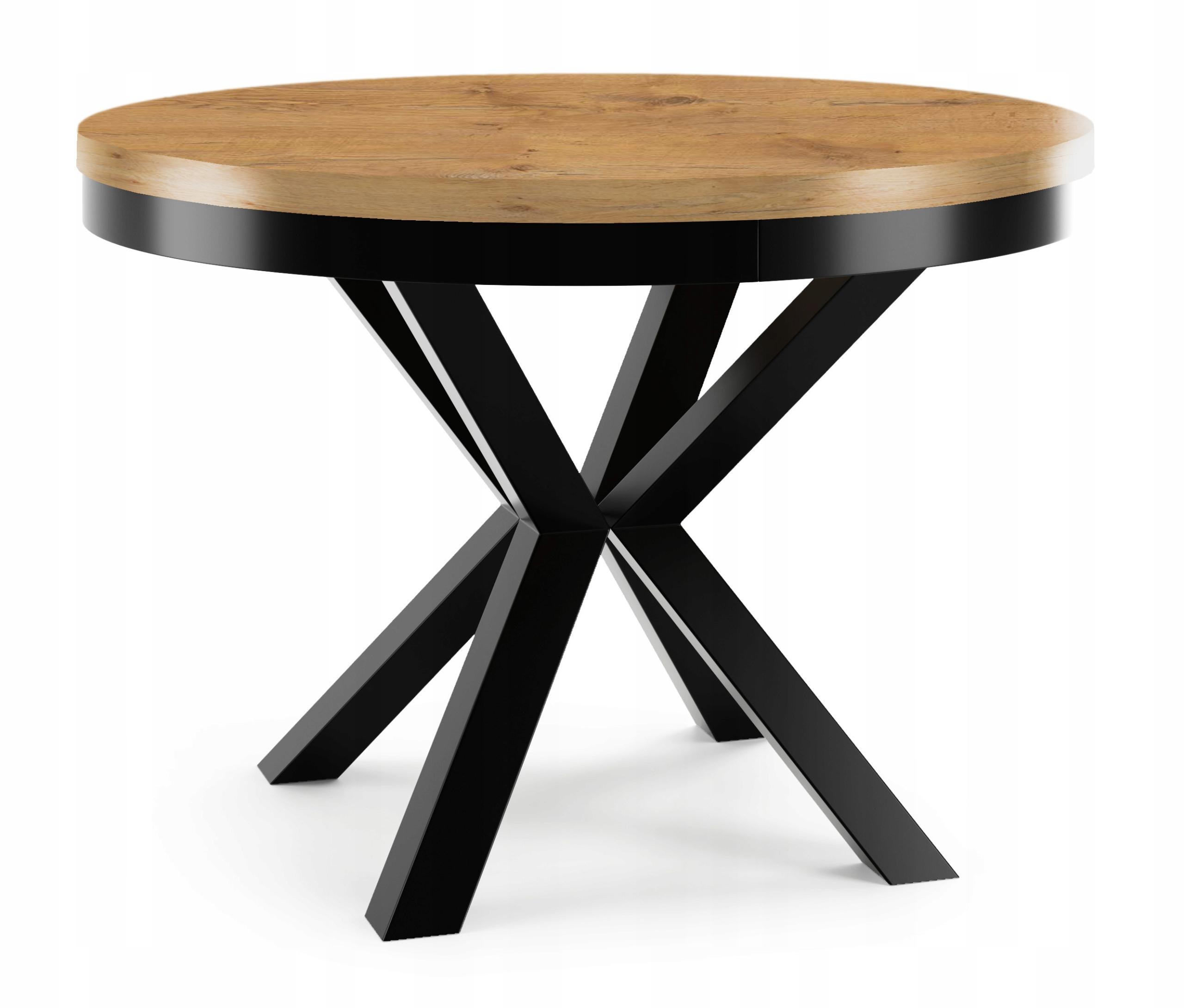 Okrągły stół 100/180 rozkładany LOFT industrial