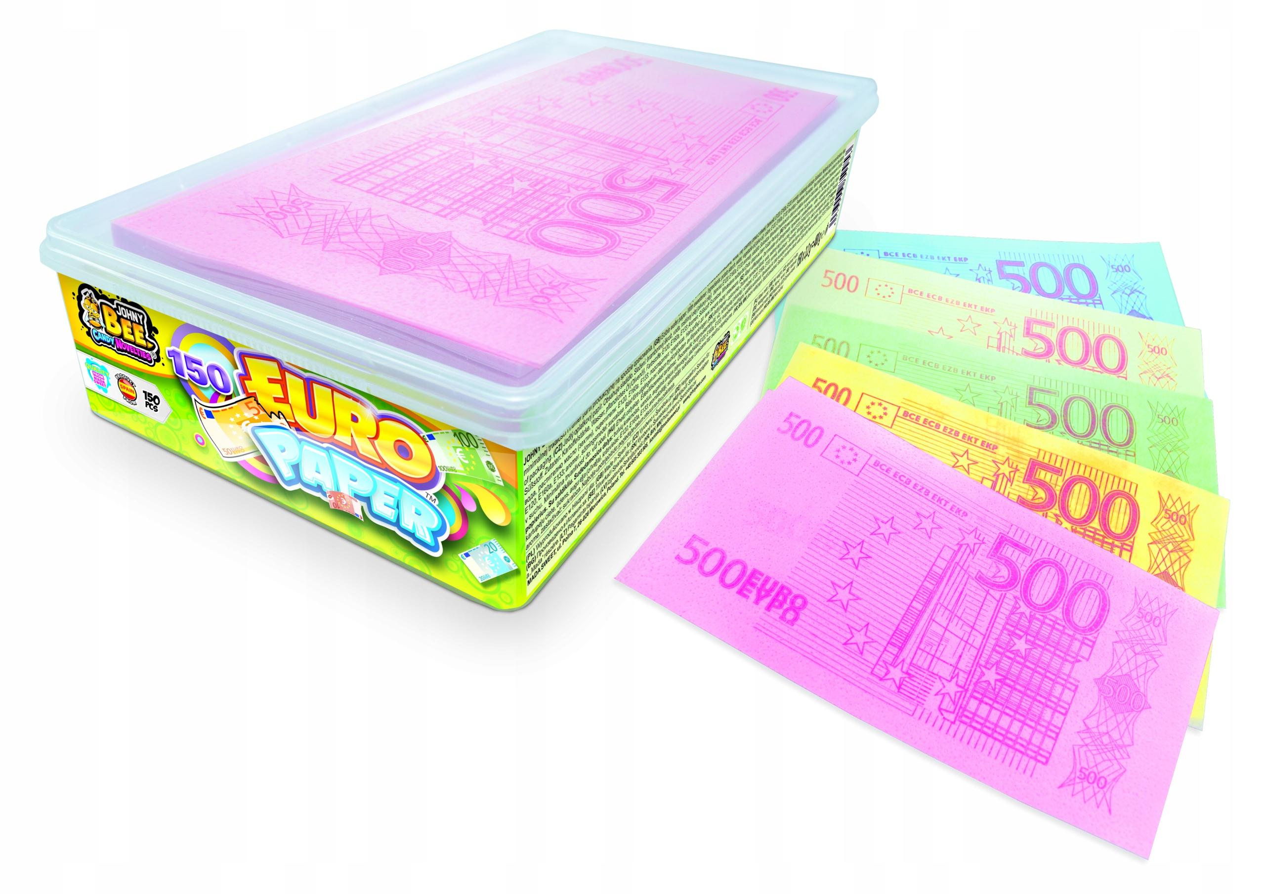 Сладкие съедобные бумажные банкноты евро 150 шт., XXL