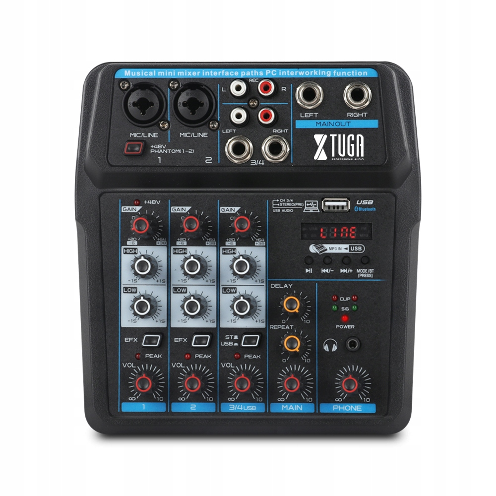 Item 4 channel mini Audio mixer Console DJ USB 48 V