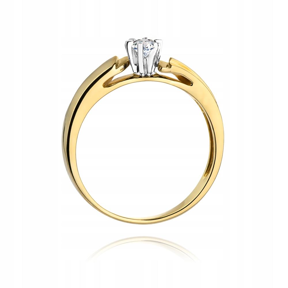 Złoty pierścionek diament brylant GRAWER GRATIS 8486651499 esCgsSUh
