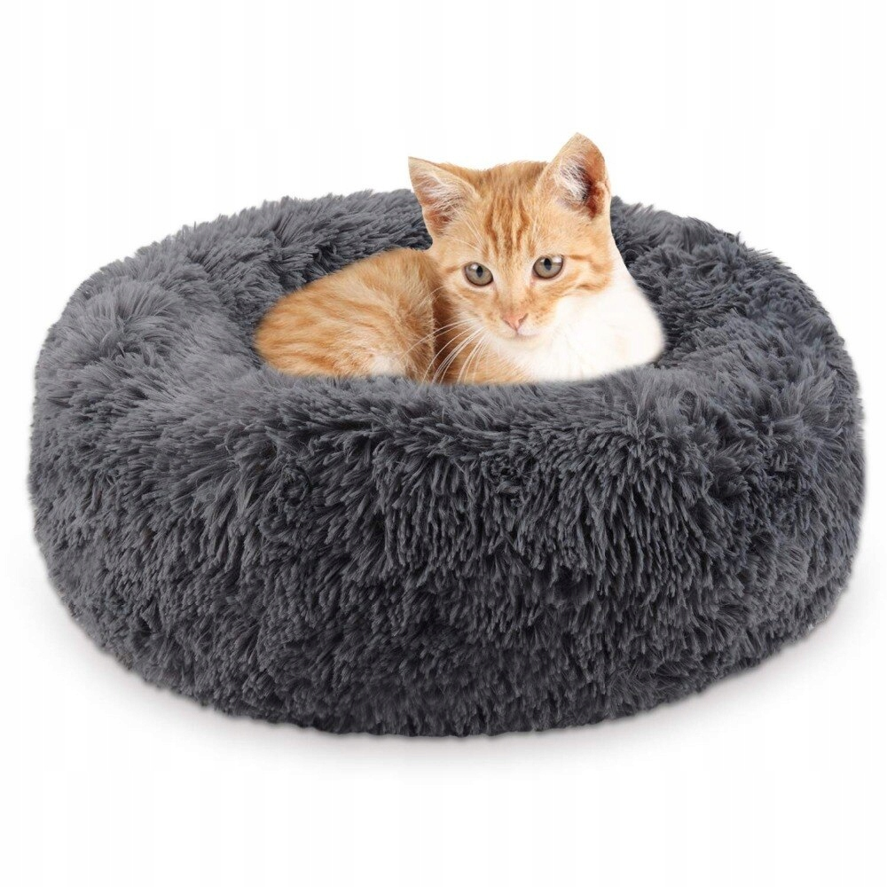 Круглая плюшевая кровать для КОШКИ и СОБАКИ 40 см!