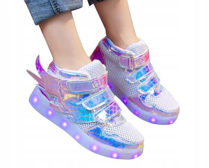 Adidasy buty LED świecące ladowanie USB Dziecięce