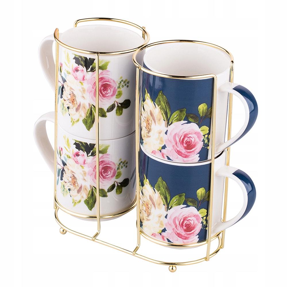 KUBKI PORCELANOWE do kawy herbaty 4 szt