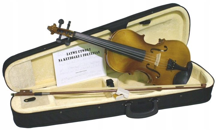 Item VIOLIN CASE BOW, AND ROSIN NOTES - SET