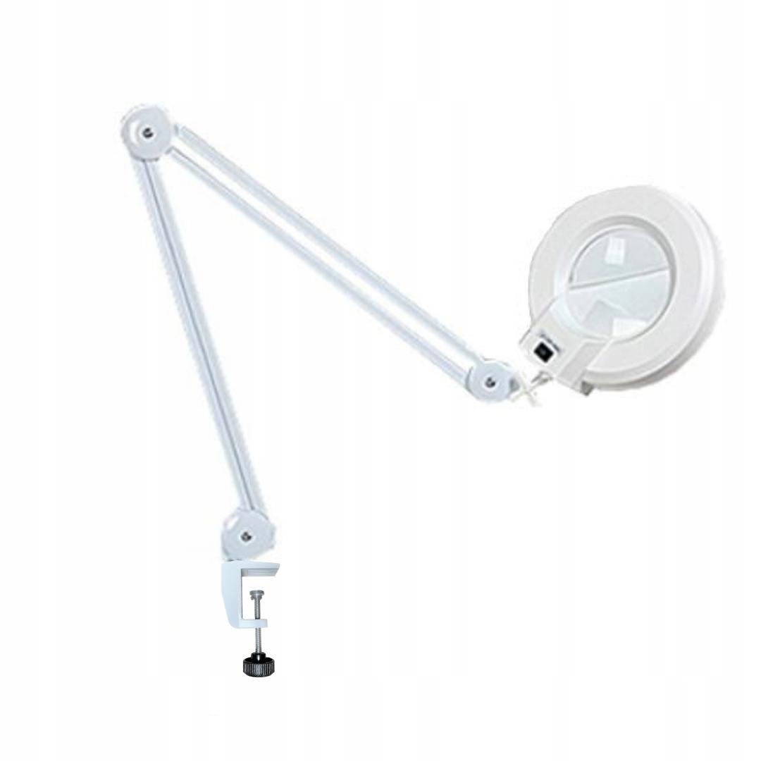 Lampa s lupou 5DPI 22W namontované na stôl!