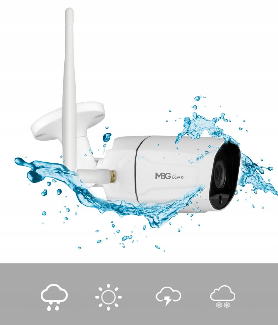 Zewnętrzna kamera IP H265 P2P Full HD METAL WIFI Marka MBG Line