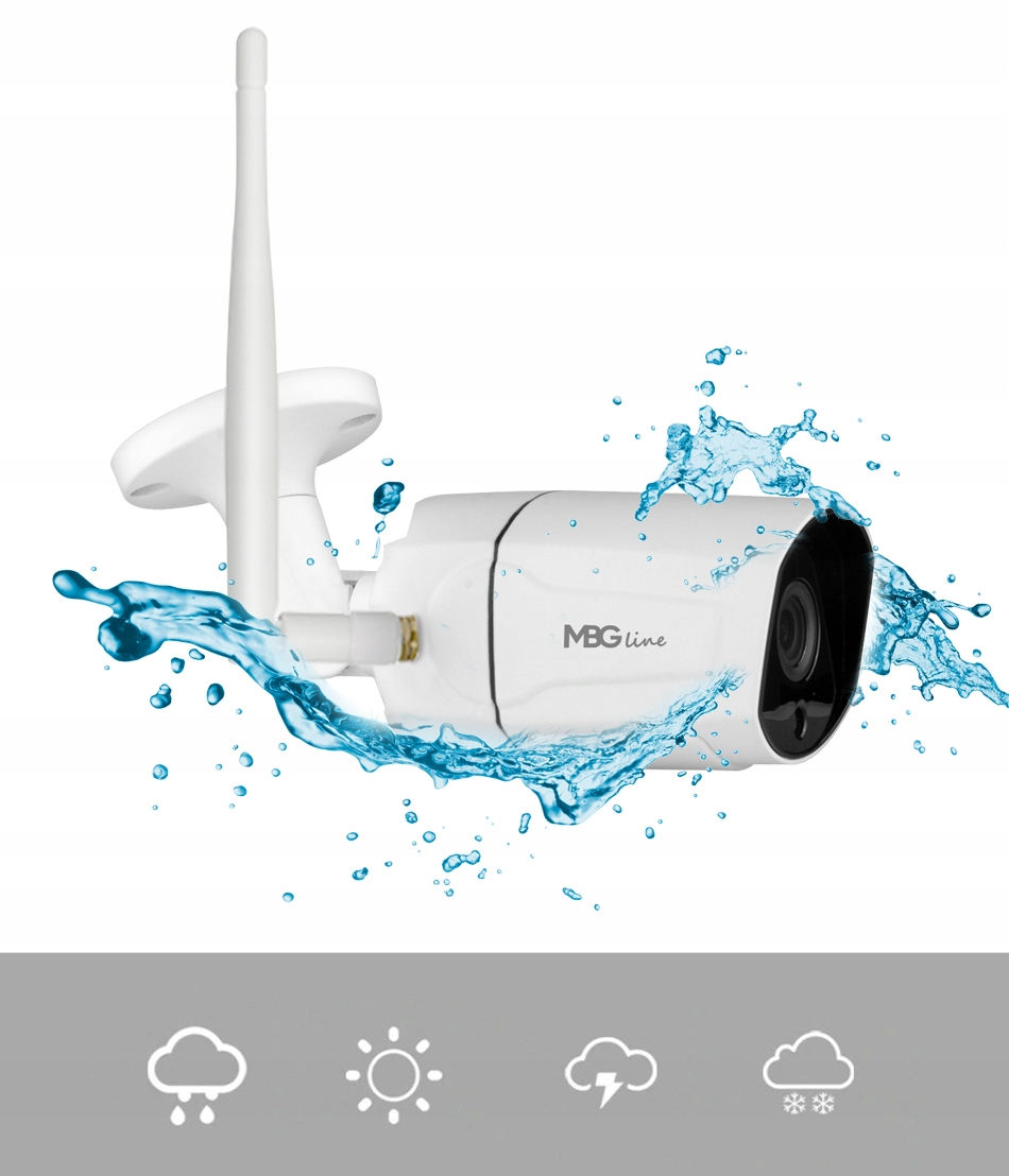 Zewnętrzna kamera IP H265 P2P UHD 5MPIX METAL WIFI Marka MBG Line