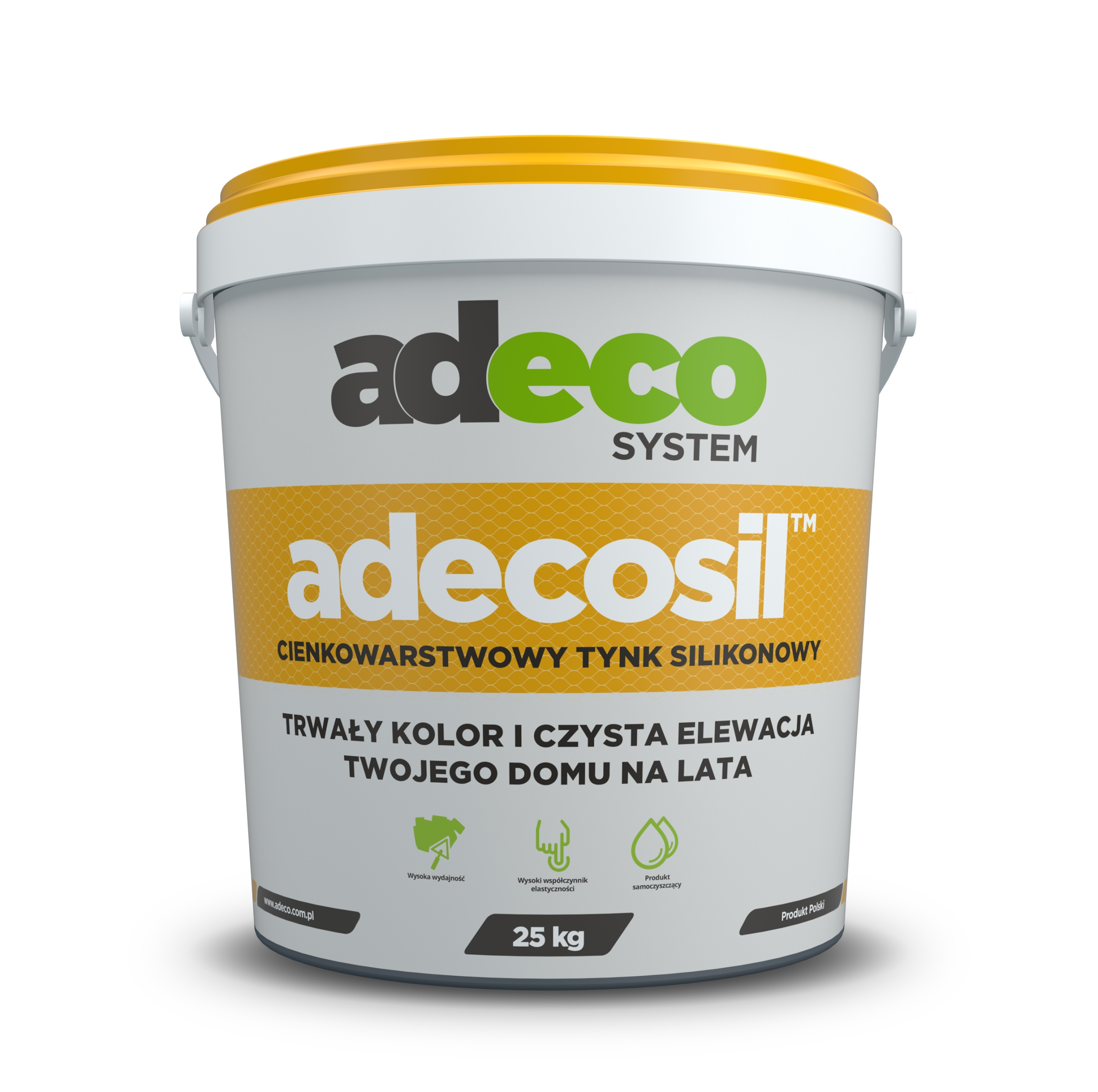 Штукатурка силиконовая структурная ADECOSIL 25 кг точка