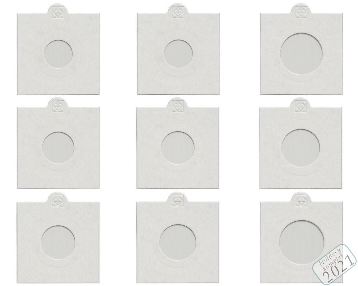 Набор монетоприемников для монет тиража 2021 г. 9 штук