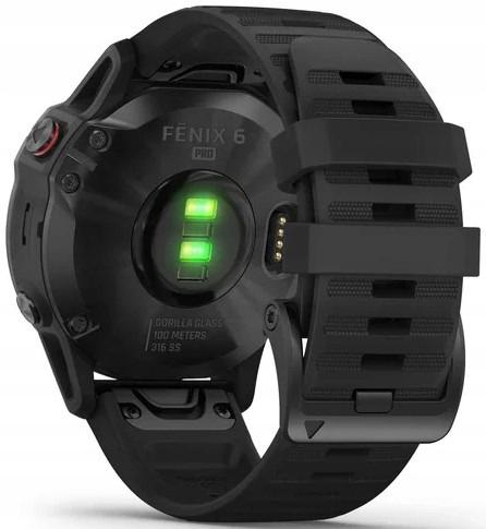 Купить Спортивные часы GARMIN Fenix 6 Pro 47 мм BK с GPS на Otpravka - цены и фото - доставка из Польши и стран Европы в Украину.