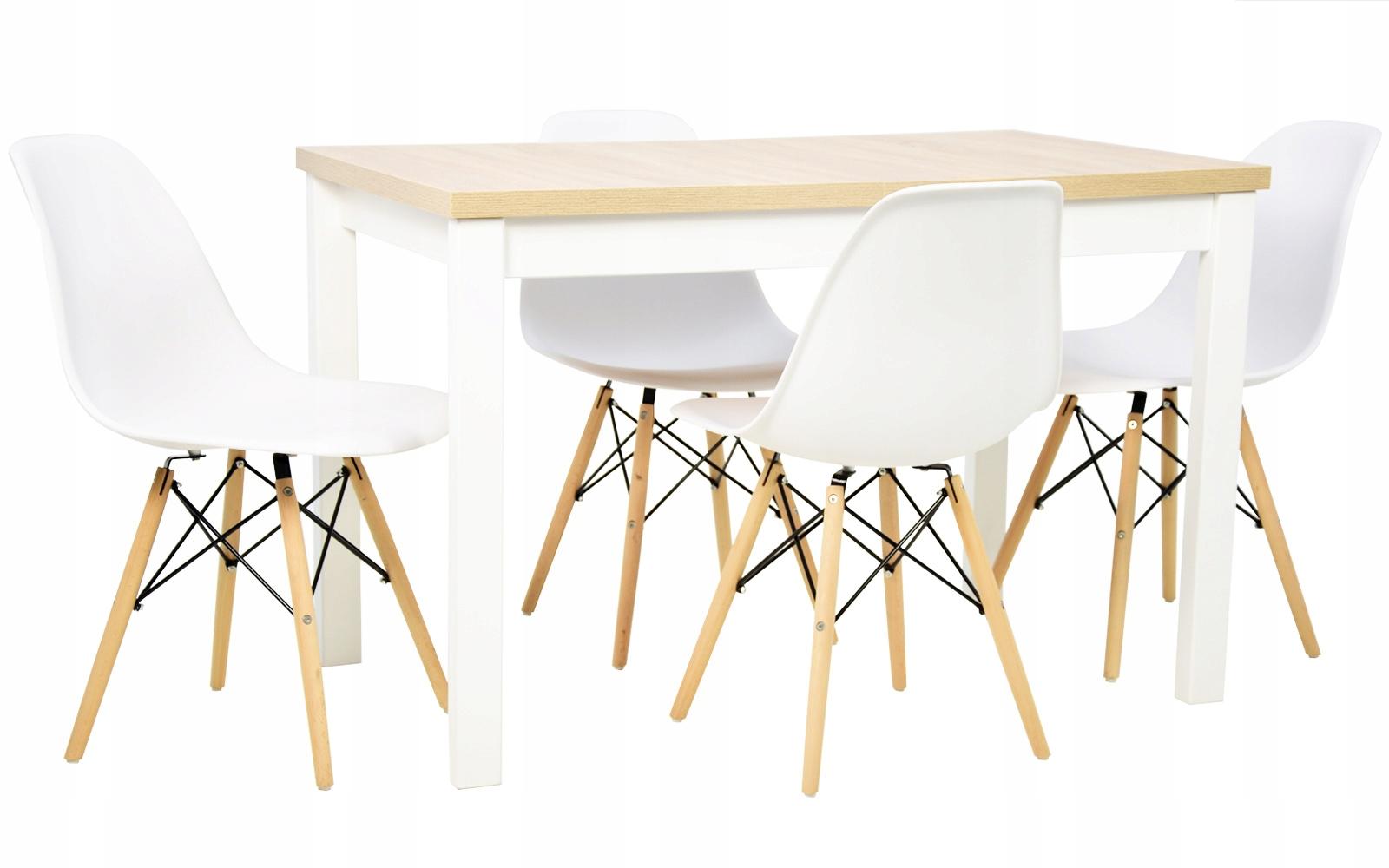 комплект в скандинавском стиле стол плюс 4 стулья