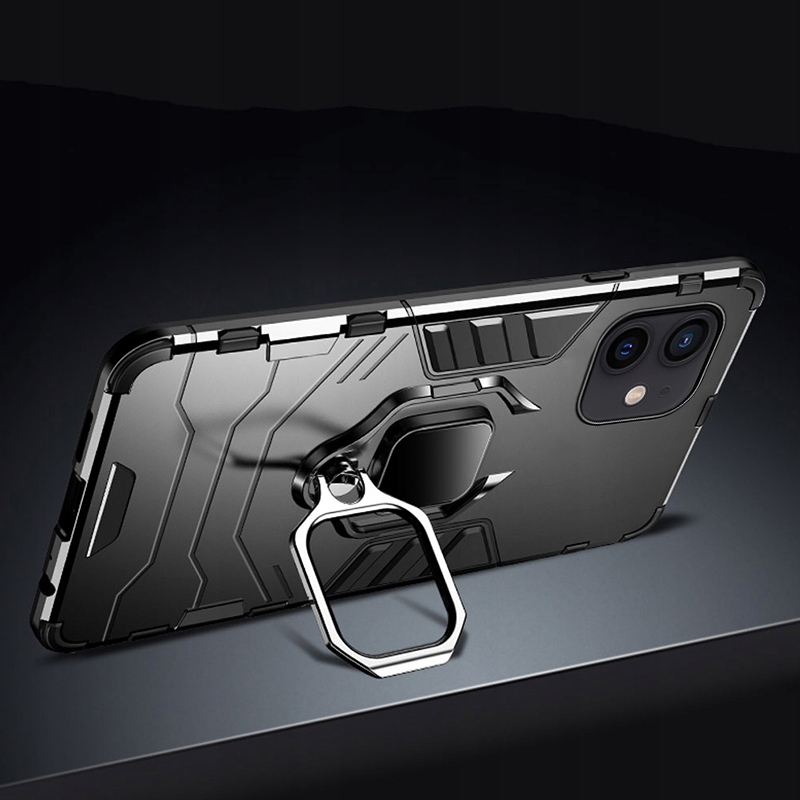Etui do iPhone 12 Mini Pancerne Ring Case + Szkło Dedykowany model iPhone 12 Mini