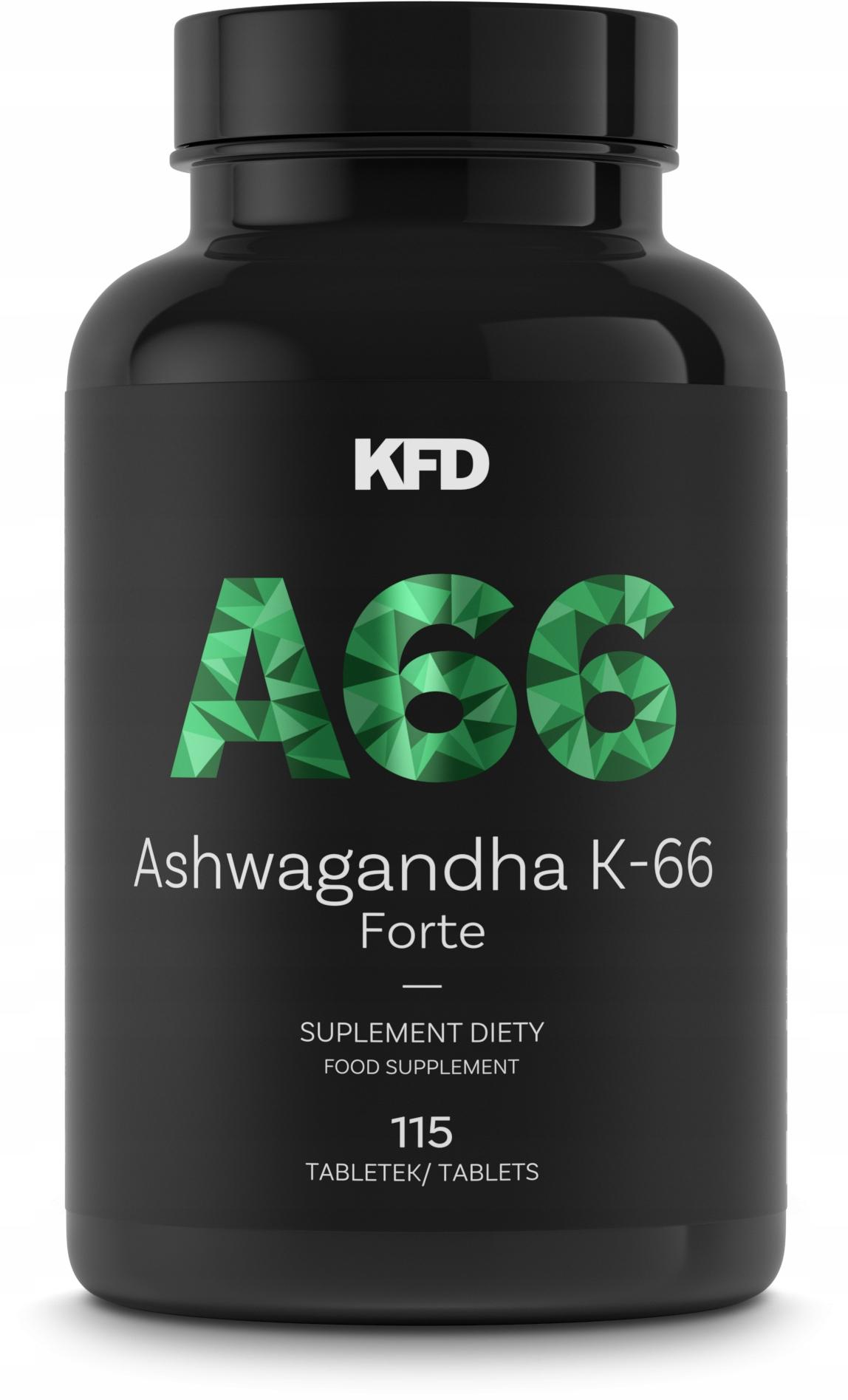 KFD ASHWAGANDHA K-66 FORTE - AŻ 230 PORCJI