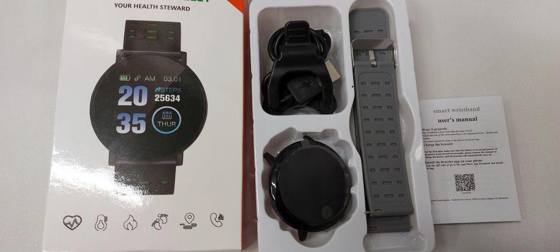Zegarek Smartwatch Bluetooth 16w1 kroki puls cykl Wodoszczelność tak