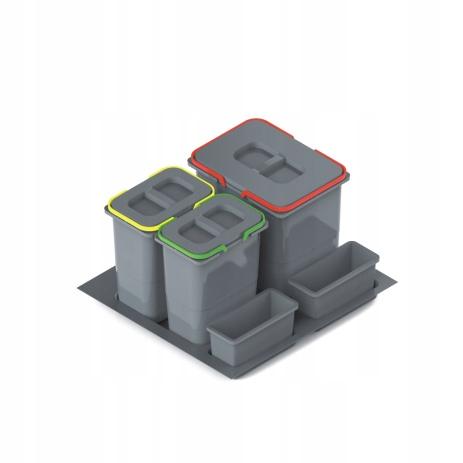ПРАКТИКО Круиз 60 урна для мусора 1x15L + 2x7L