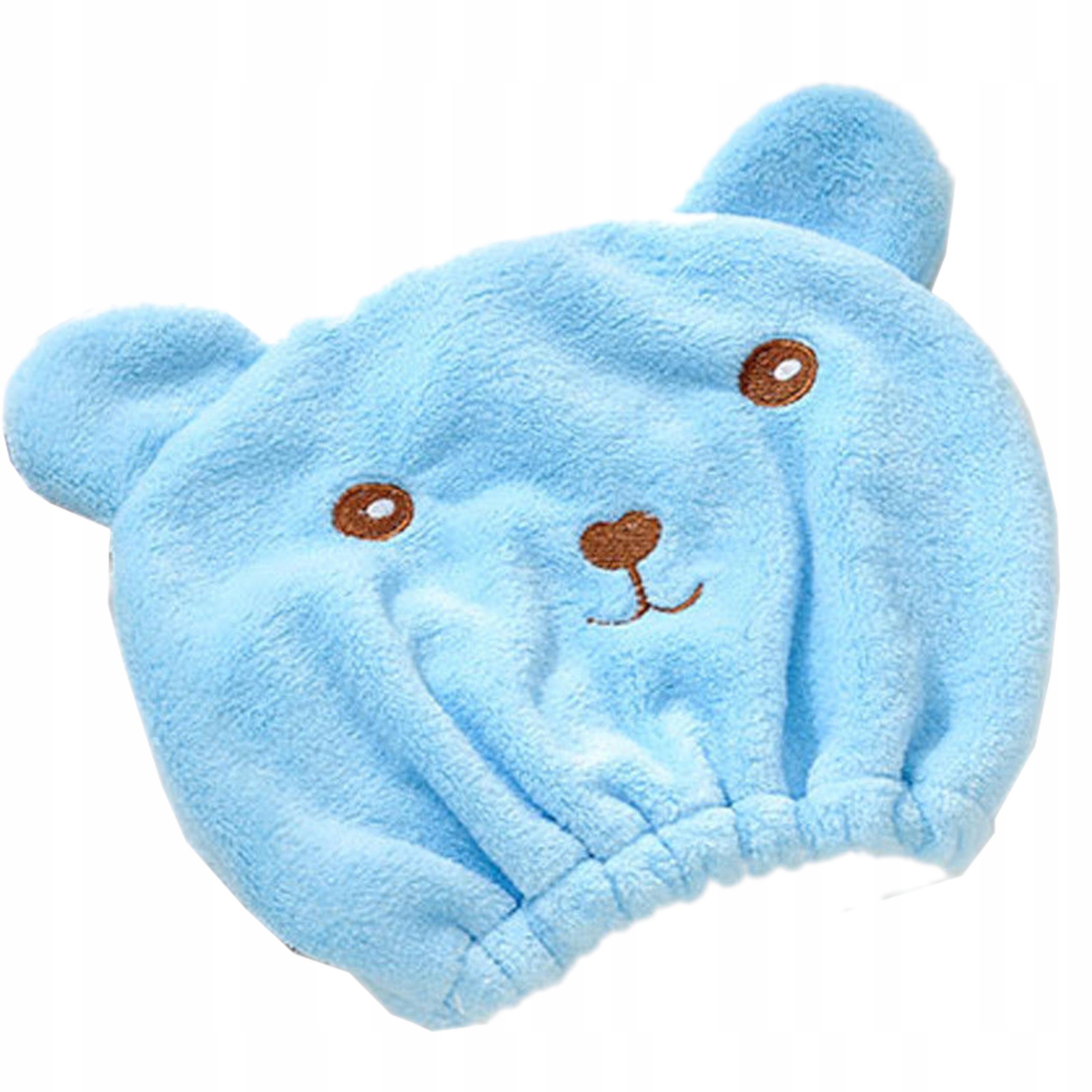 Szybkoschnący ręcznik czepek do włosów 4w1 B915N Kolor dominujący niebieski
