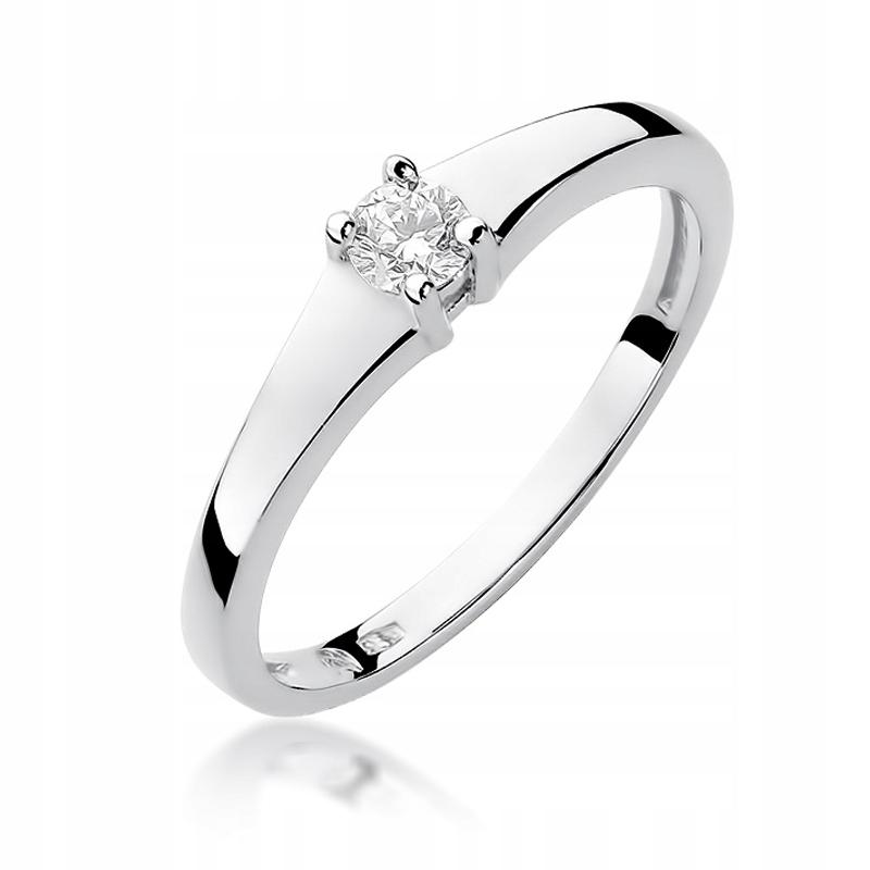 Prsteň biele zlato 585 diamond akejkoľvek veľkosti