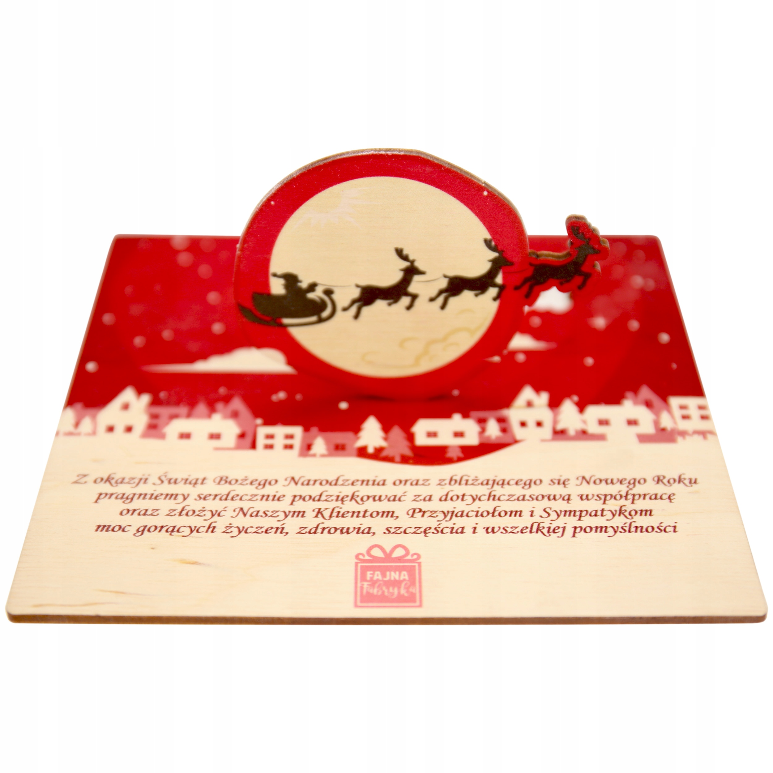 Vianočné karty Gravírovanie Business Engrafer Reinder Logo