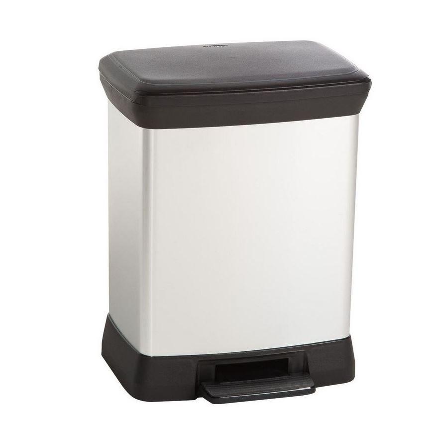 Odpadkový kôš IPS s 30 l strieborným pedálom