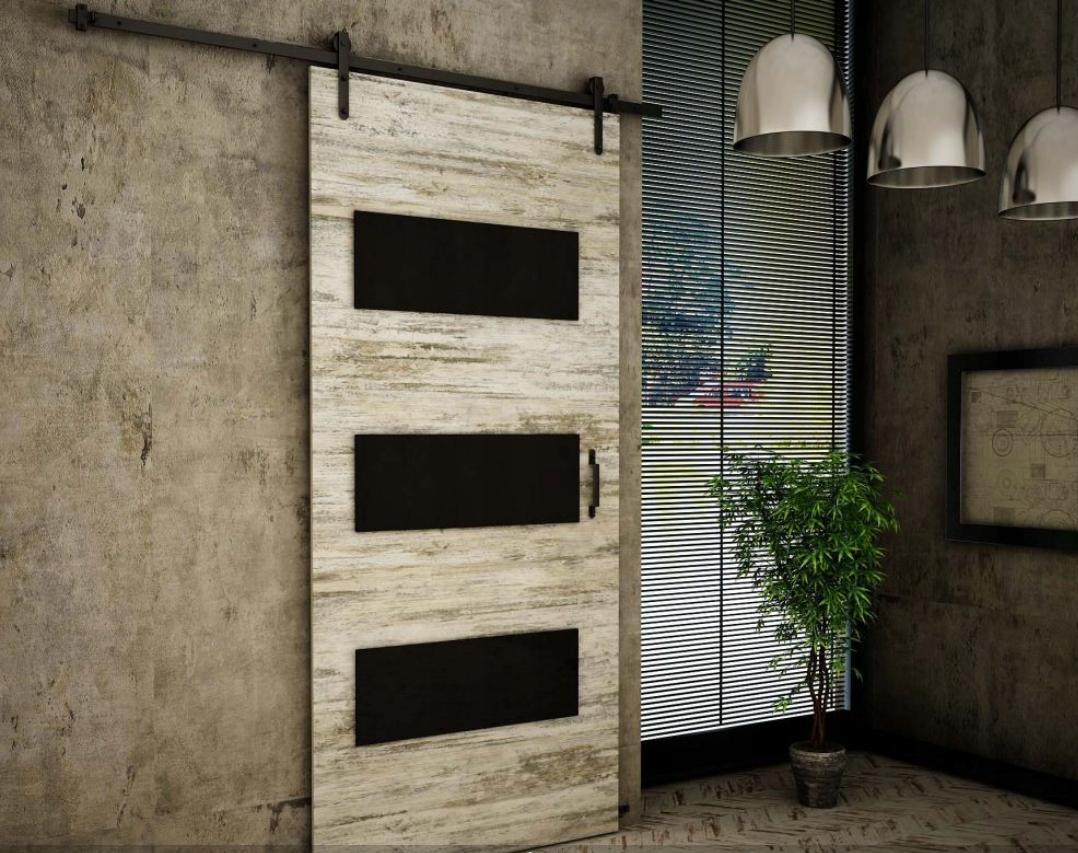 Borovica na stenu pre posuvné dvere Retro RT02 80