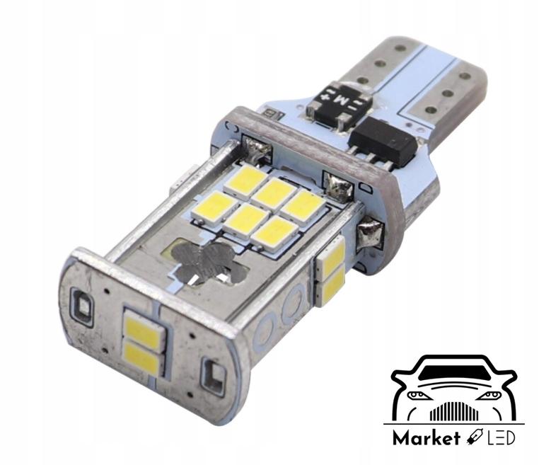 Żarówki LED - Światła Wsteczne W16W/T10 - CanBus Typ żarówki W16W