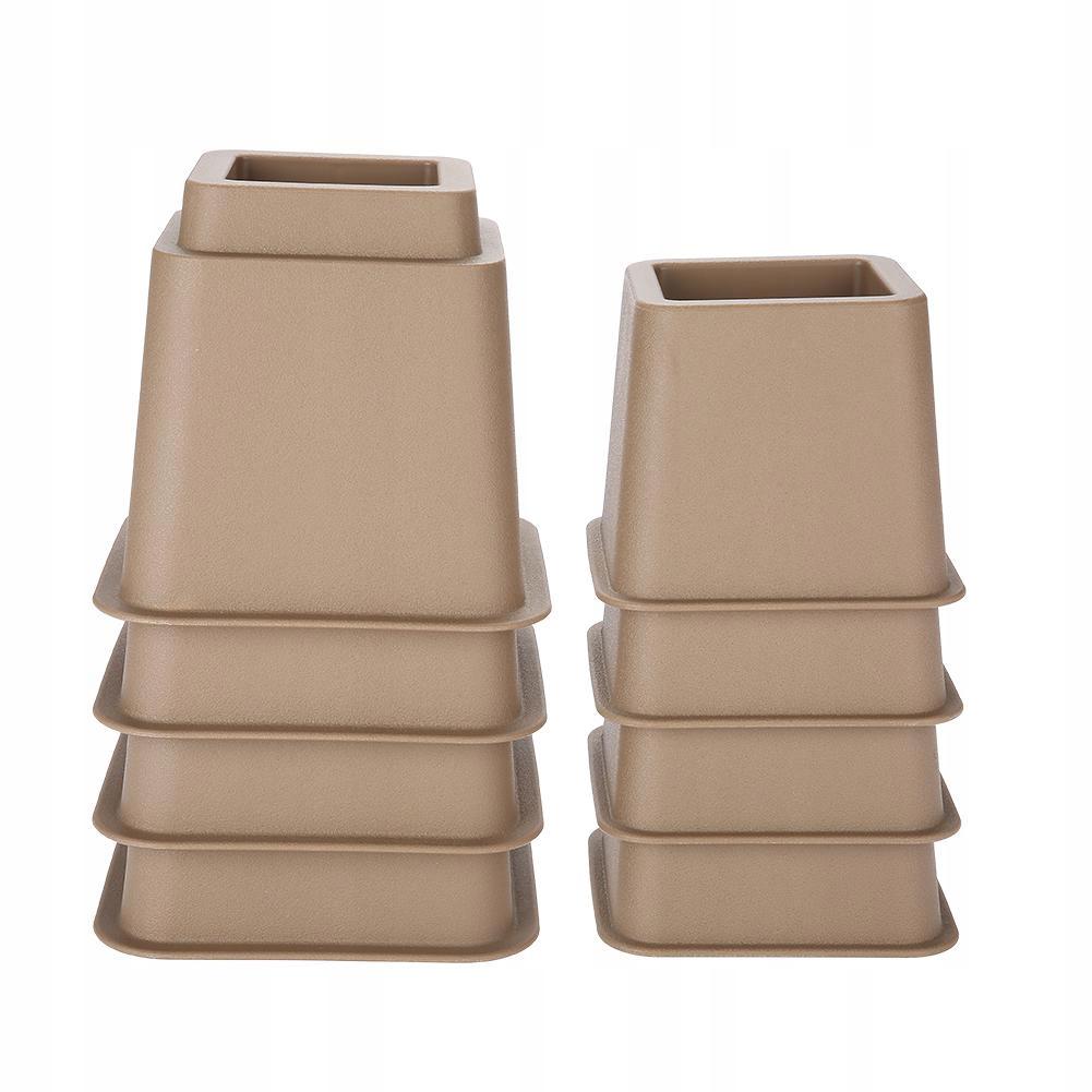 Ochranný poťah na nohy stoličky, hnedý 8 ks