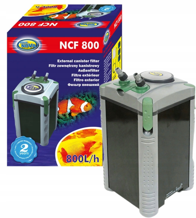 Внешний фильтр Aqua Nova NCF 800 для аквариума до 200л