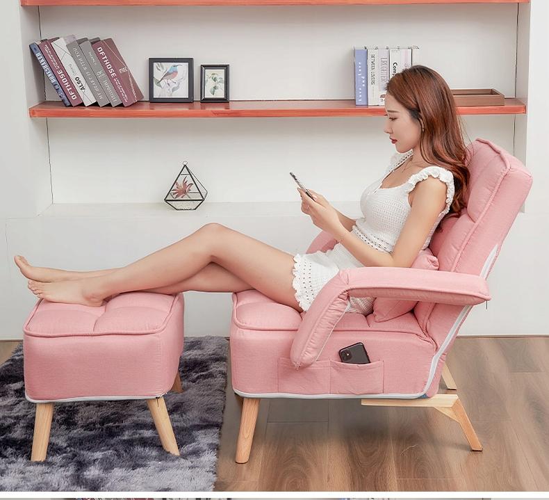 USZAK karosszék lábtartóval Összecsukható állítható 1480 A bútor mélysége 53 cm