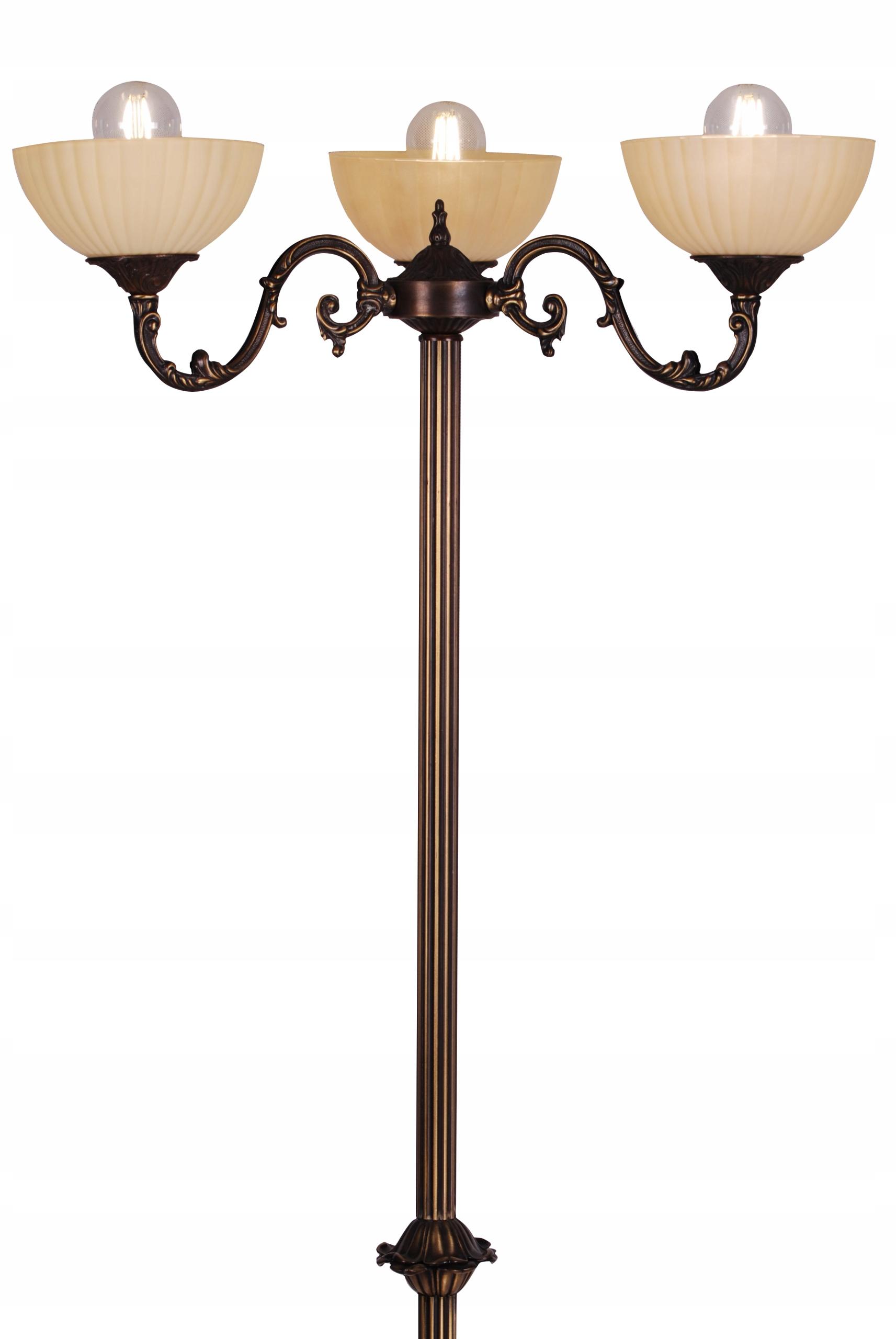 Vysoká podlahová lampa Retro elegantná hnedá E27