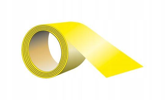 Клейкая лента для пола 5 см х 33 Мб желтый