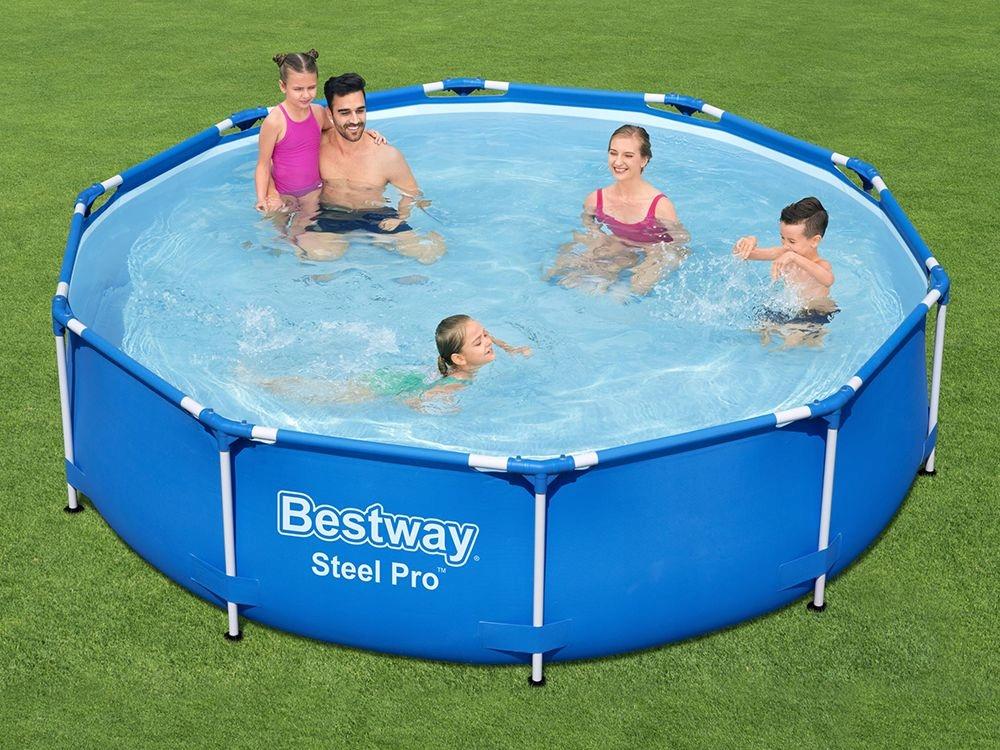 Rackový záhradný bazén Bestway 305 x 76 56677, kruhový tvar 6v1