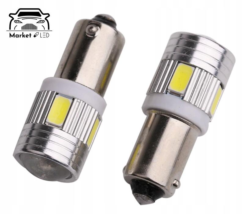 Żarówka T4W /BA9s - LED 6xSMD SOCZEWKA Numer katalogowy części 25