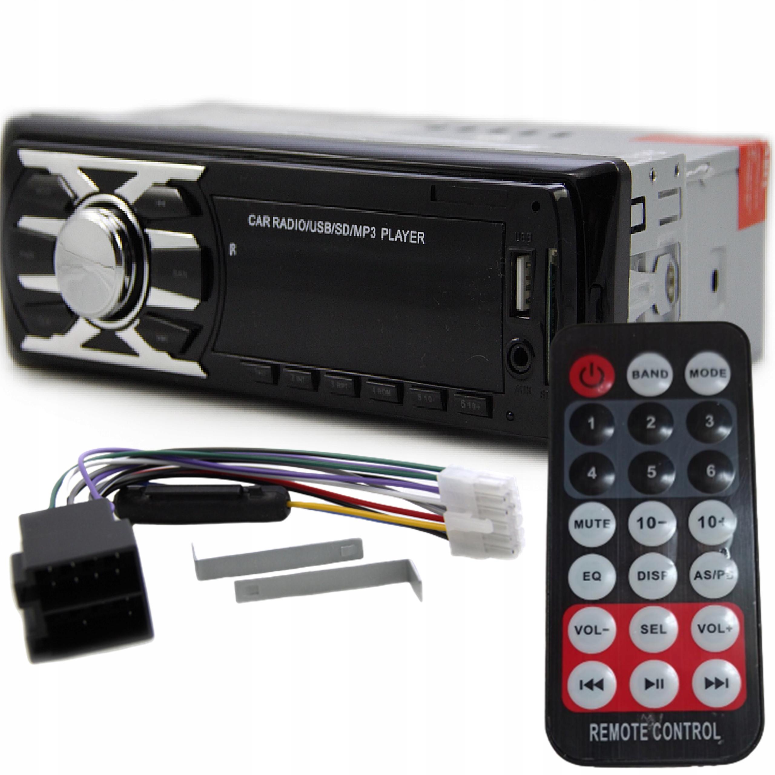 RADIO SAMOCHODOWE SD USB FM MP3 AUX + PILOT