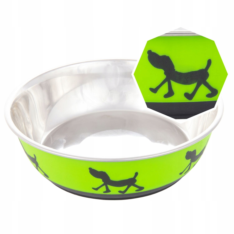 Металлическая нескользящая миска для собак, 4 цвета