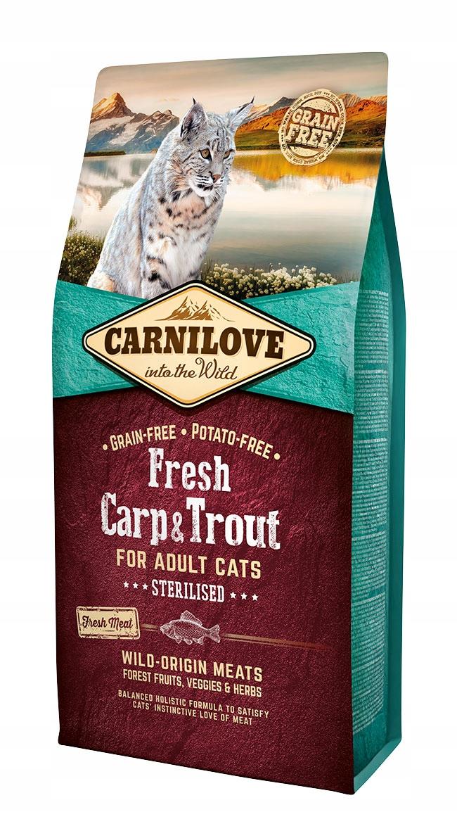 Carnilove Cat Fresh Carp Trout Sterilized KARP 6кг