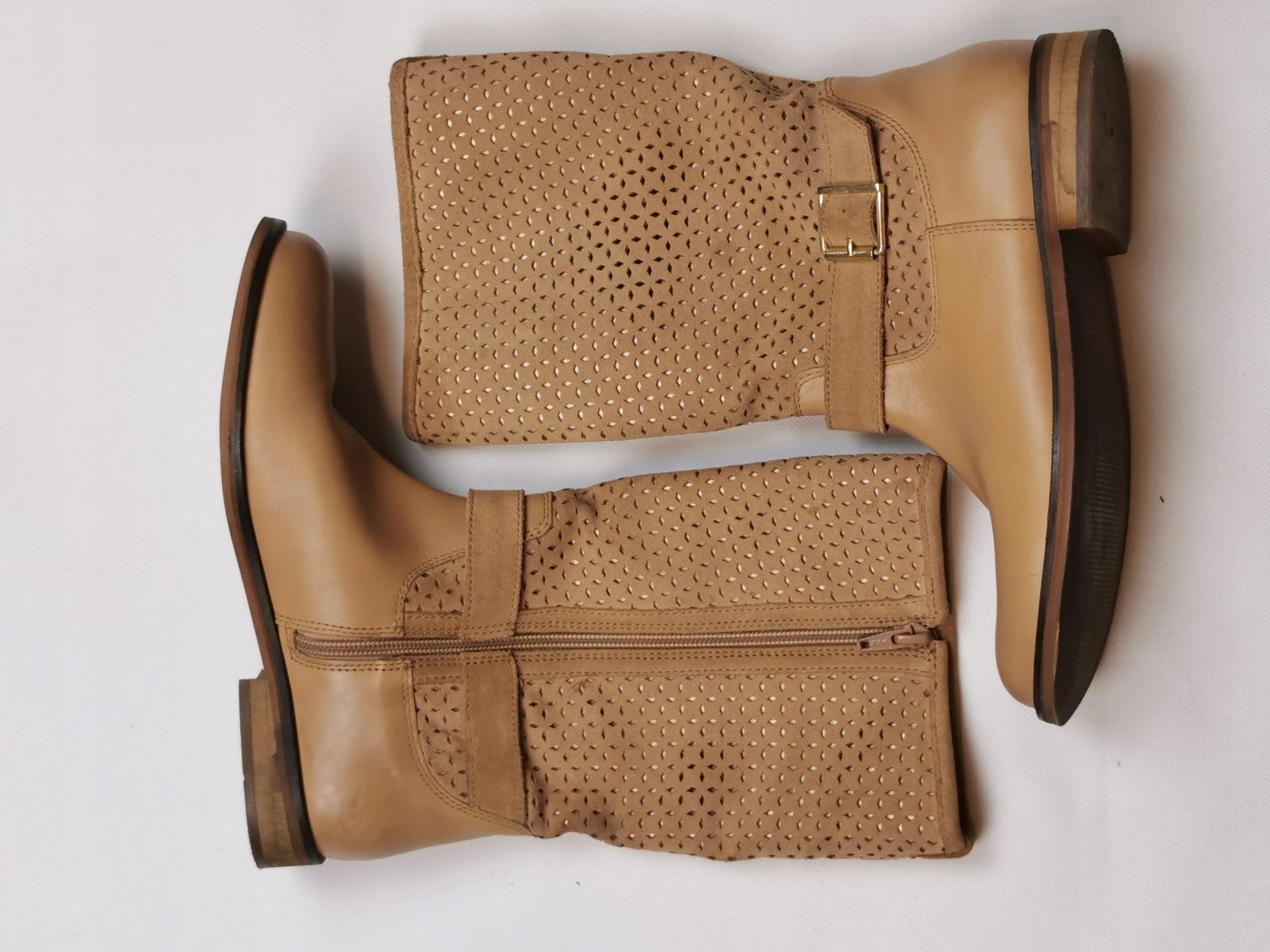 Jasnobrązowe buty dziewczęce Zara r.37