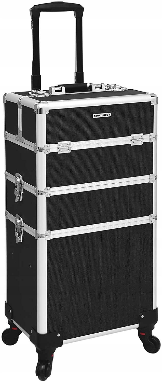 Ящик для косметики на колесах Songmics 3W1