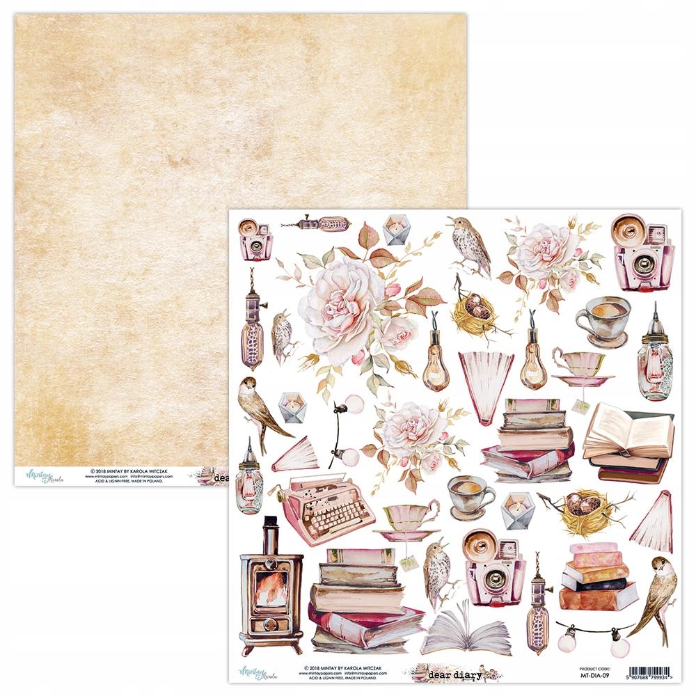 Papier Mintay - Дорогой дневник - аксессуары для вырезания