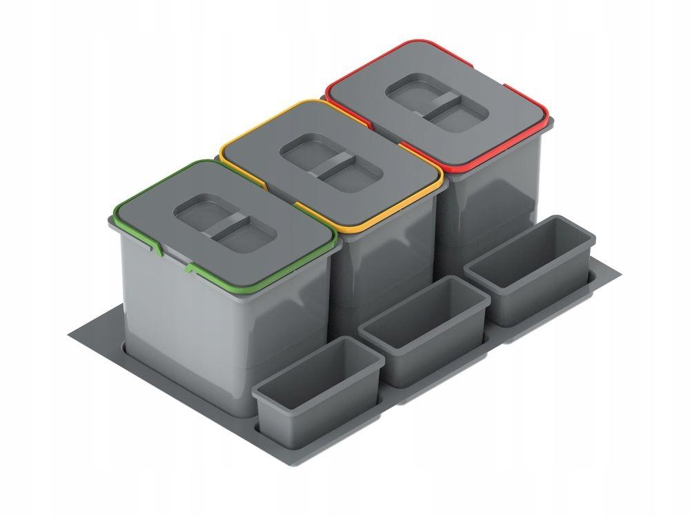 Сортировщик Корзина для мусора отходы 80 3 x 20л h-400