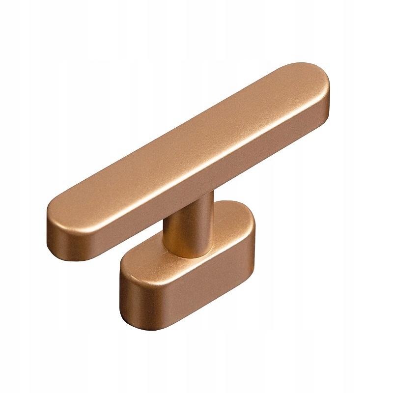 Ручка мебельная KNOB T-BAR золото матовая медь GIUSTI