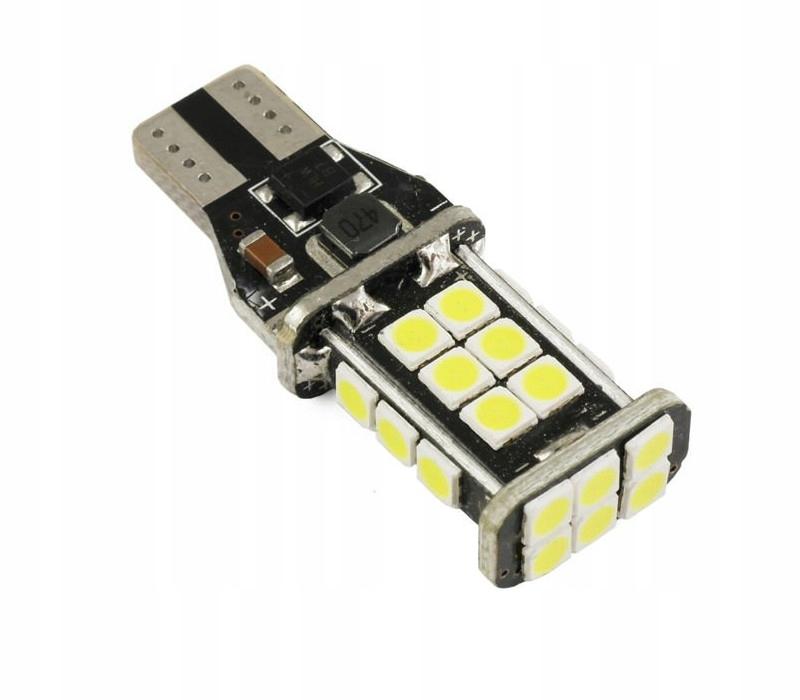 сильная led t15 w16w лампа заднего вида 24x3030 canbus