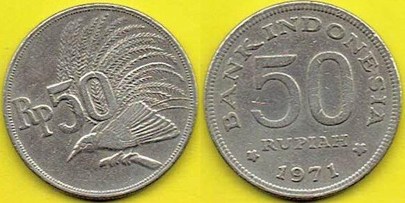 INDONEZJA 50 Rupiah 1971 r.