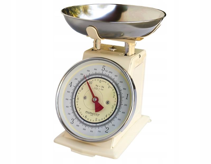 Retro kuchynská váha ERNESTO, kovová, 5 kg