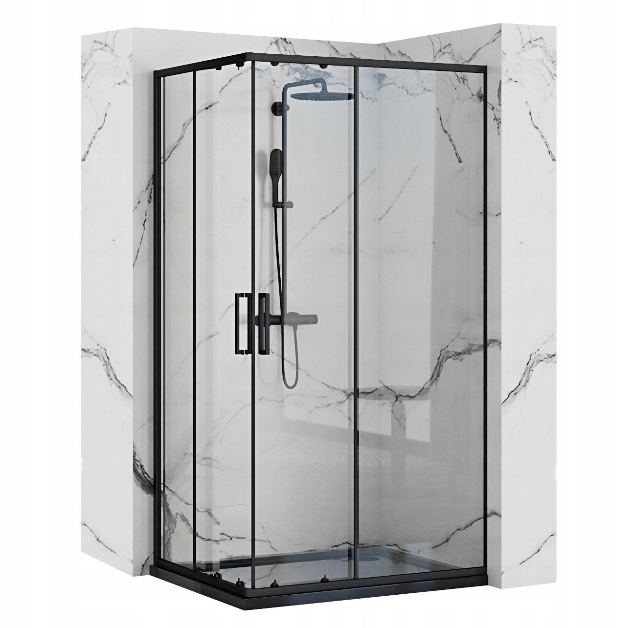 Kabina prysznicowa PUNTO CZARNA 80x100 - REA BLACK