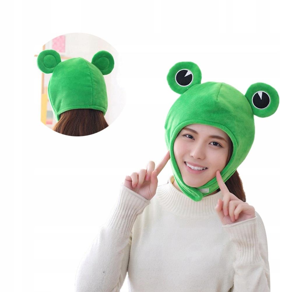 Cute Plush Frog Hat Winter Scarf Cap Ears Winter S