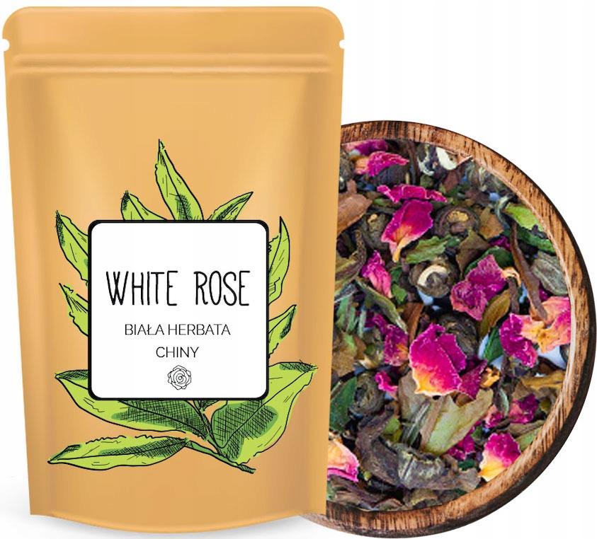 Натуральный БЕЛЫЙ листовой чай с РОЗой